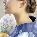 浴衣に似合う髪型、簡単にアレンジできる編み込み、まとめ髪を紹介します。