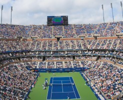 on Day Thirteen of the 2012 U.S. Open at the USTA Billie Jean King National Tennis Center on September 8, 2012 in the Flushing neighborhood, of the Queens borough of New York City.